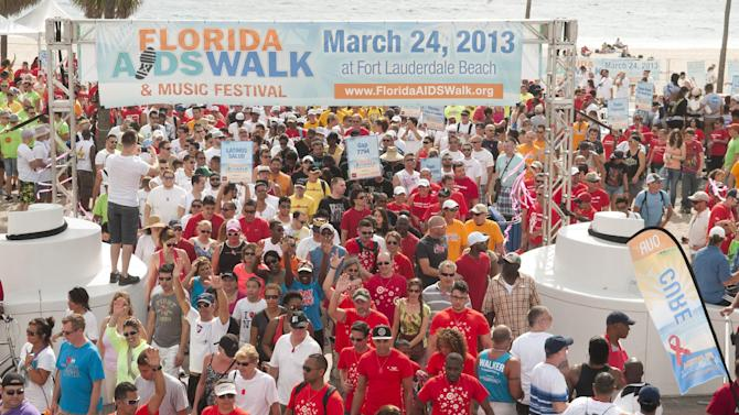 COMMERCIAL IMAGES - In this photograph taken by AP Images for AIDS Healthcare Foundation, thousands participated in the 8th annual Florida AIDS Walk and Music Festival on the beach in Fort Lauderdale, FL on Sunday, March 24th, 2013. The event raises needed funds for local HIV/AIDS service organizations. (Mitchell Zachs/AP Images for AIDS Healthcare Foundation)