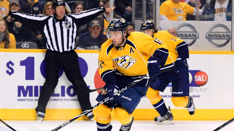 NHL: Columbus Blue Jackets at Nashville Predators