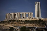 View of the Holyland luxury apartment complex in Jerusalem. An Israeli court has found former prime minister Ehud Olmert guilty on one charge in a closely watched corruption case, but cleared him on two other charges, in a verdict he hailed as just