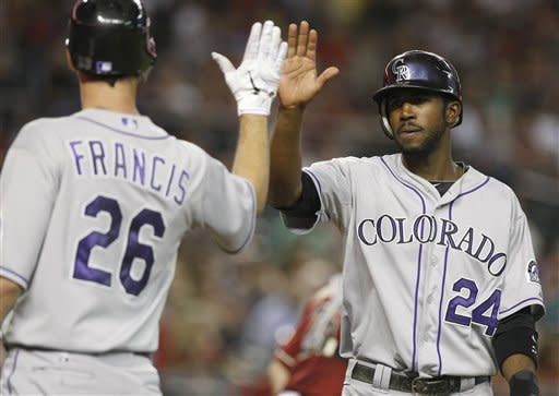 Francis, Rosario lead Rockies over D-backs 4-2