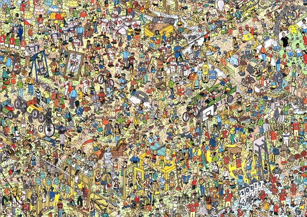 Alex Rodriguez is somewhere in this picture. Try to find him! (BLS Illustration)