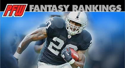 Week Two RB rankings