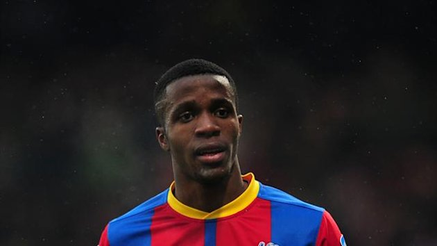 Wilfried Zaha joined Leeds' rivals Manchester United in January