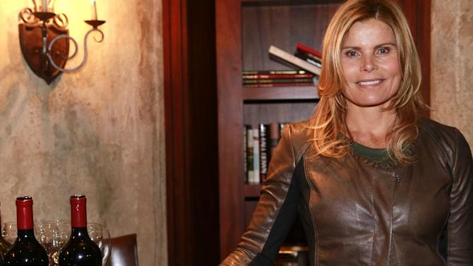 "IMAGE DISTRIBUTED FOR RAND LUXURY -Mariel Hemingway  from the film ""Running from Crazy"" seen with Verite Wine at Resorts West House of Luxury, on Monday, Jan 21. 2013 in Park City, Utah. (Photo by Benjamin Cohen/Invision for Rand Luxury/AP Images)"
