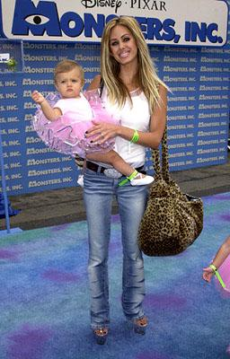 Shauna Sand Lamas and daughter at the Hollywood premiere of Monsters, Inc.