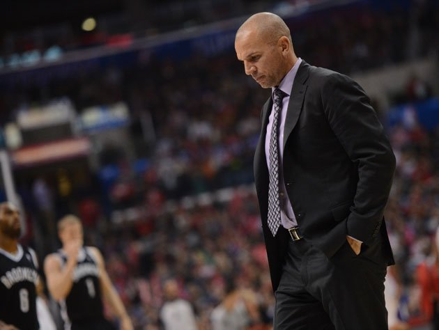 Jason Kidd coaching a Brooklyn Nets game