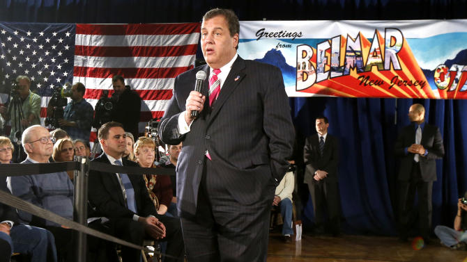 "FILE - In a March 25, 2014 , file photo New Jersey Gov. Chris Christie talks during a town hall meeting in Belmar, N.J. Christie says undergoing gastric bypass surgery more than a year ago was a ""life-changing decision."" (AP Photo/Julio Cortez, file)"