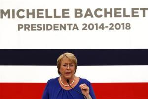 Chile's President-elect Michelle Bachelet answers a question during a news conference at her headquarters in Santiago