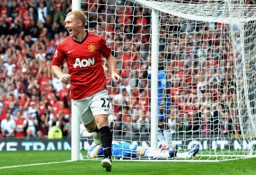 Manchester United's midfielder Paul Scholes
