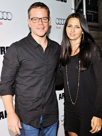 "Matt Damon ""Loves Coming Home"" to Wife Luciana Barroso"