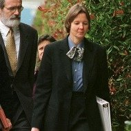 Judy Clarke heading to work in 1998. (Photo: RICH PEDRONCELLI/AFP/Getty Images via NYMag.com)