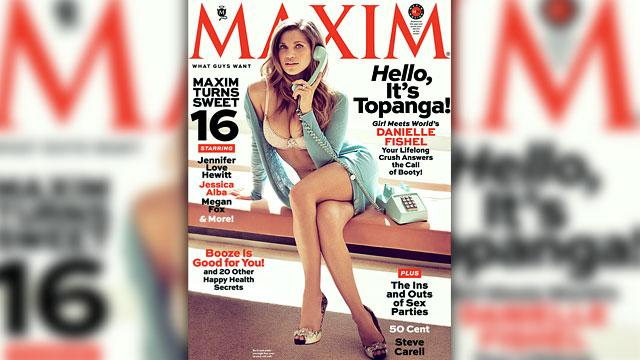 Hello Topanga! Danielle Fishel Strips For Maxim