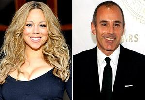 Mariah Carey; Matt Lauer | Photo Credits: Fadel Senna/AFP/GettyImages; Larry Busacca/Getty Images
