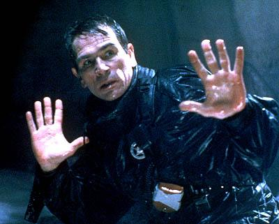 Tommy Lee Jones is Lt. Gerard in The Fugitive