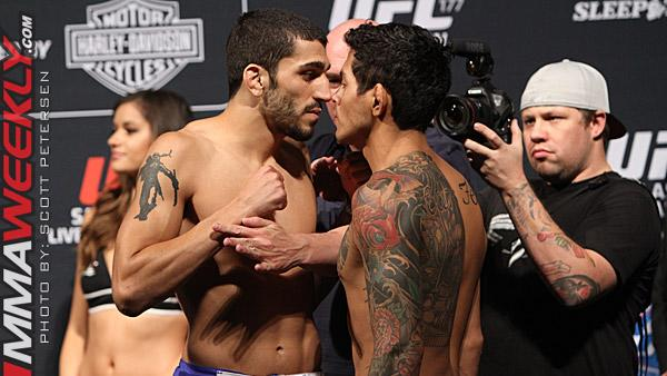 UFC 177 Fighter Bonuses: Carlos Diego Ferreira and Ramsey Nijem Take Fight of the Night