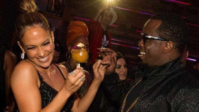 Friendly Exes! Jennifer Lopez and Diddy Look Ecstatic to Be Together Again at the AMAs After-Party
