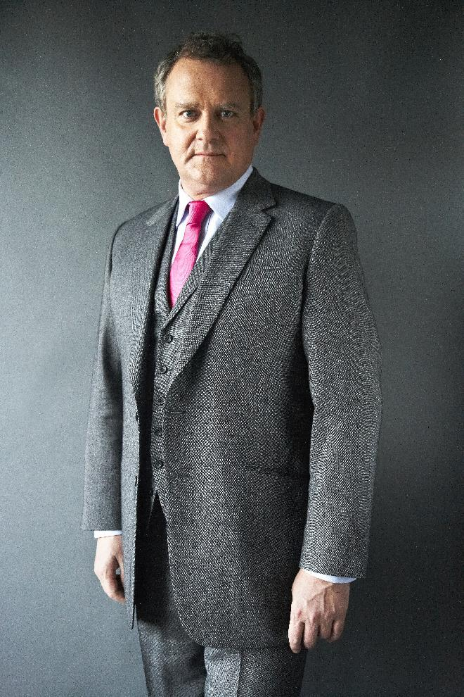 "FILE - This Dec. 12, 2012 file photo shows British actor Hugh Bonneville in New York. Bonneville portrays the patriarchal Lord Grantham in the series, ""Downton Abbey.""  The season three finale airs Sunday, Feb., 17 on PBS. (Photo by Dan Hallman/Invision/AP)"