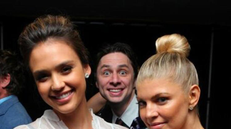 Zach Braff, Jessica Alba and Fergie