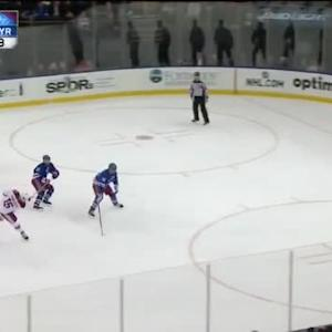 Mike Smith Save on Chris Kreider (14:16/3rd)