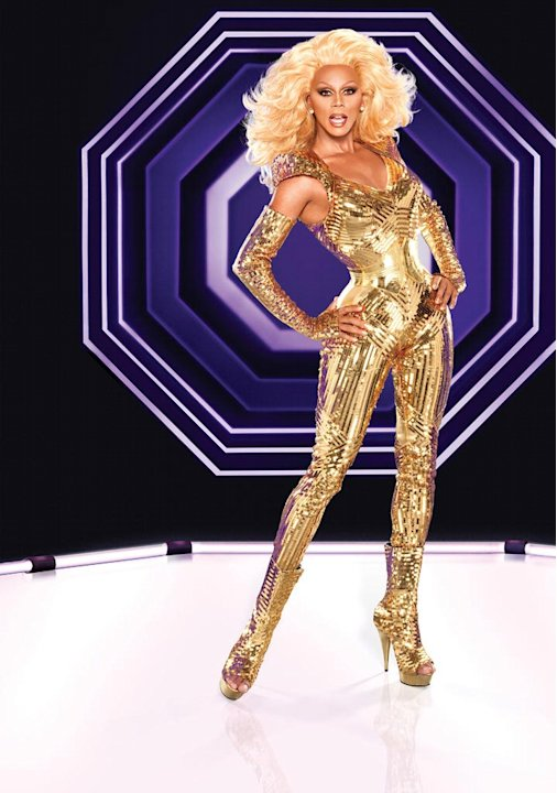 "RuPaul hosts Season 4 of ""RuPaul's Drag Race."""