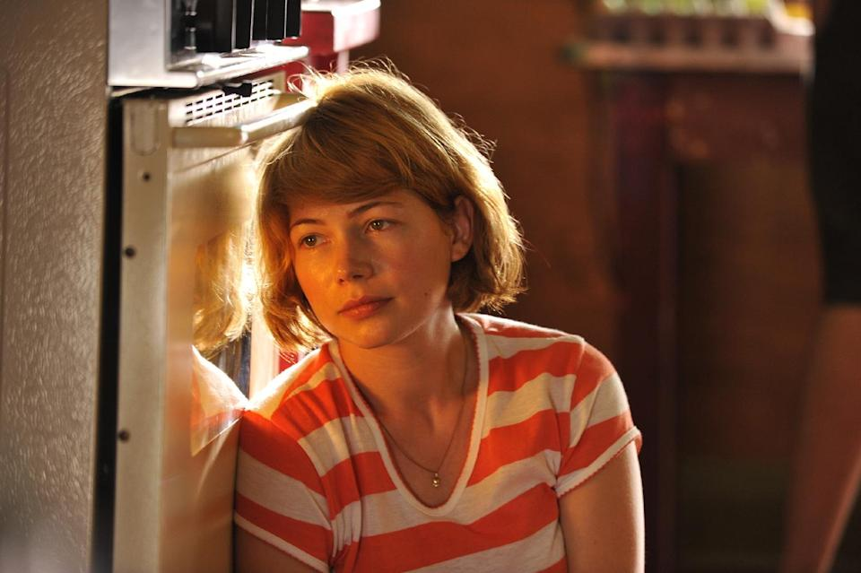 "This film image released by Magnolia Pictures shows Michelle Williams in a scene from ""Take This Waltz."" (AP Photo/Magnolia Pictures)"