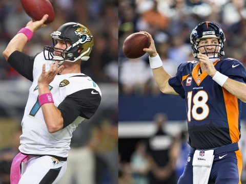Chad Henne and Peyton Manning