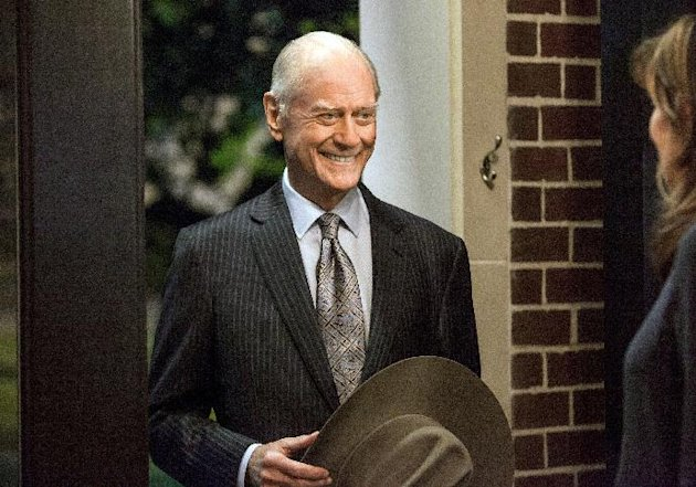 "This Oct. 2012 photo released by TNT shows actor Larry Hagman as J.R. Ewing in a scene from ""Dallas."" Hagman, who died of cancer at 81 the day after Thanksgiving, was diagnosed in 1992 with cirrhosis of the liver from a life of heavy drinking and, three years later, when a malignant tumor was discovered on his liver, successfully underwent a transplant. The series returns for a new season on Monday at 9 p.m. EST on TNT. (AP Photo/TNT, Skip Bolen)"