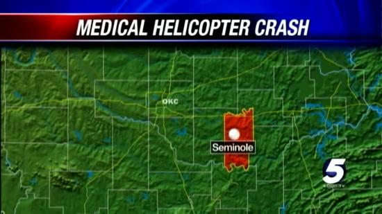 Medical helicopter crash injures 4 near Seminole