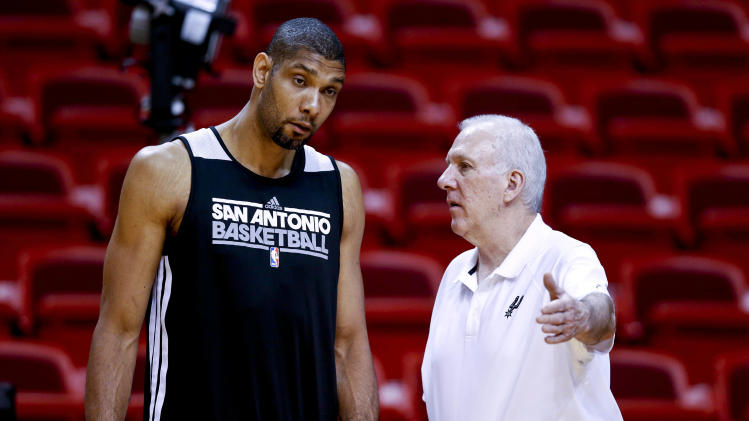 NBA: Finals-San Antonio Spurs-Practice