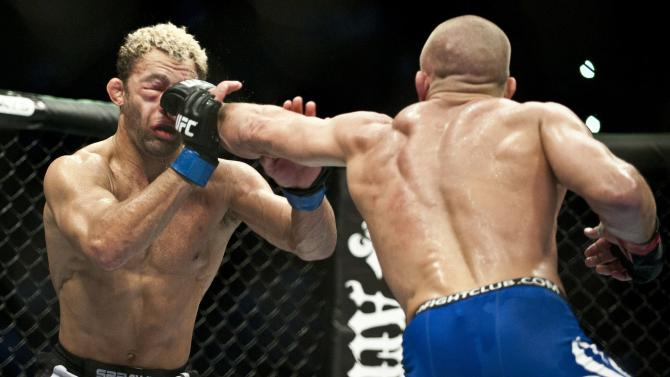 Georges St-Pierre (R) from Montreal, Can