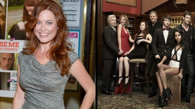Melissa Archer (left) and with the cast of 'OLTL' (right) -- Getty ImagesThe Online Network