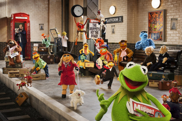 Train-spotting...Muppet gang invade London (Credit: Disney)