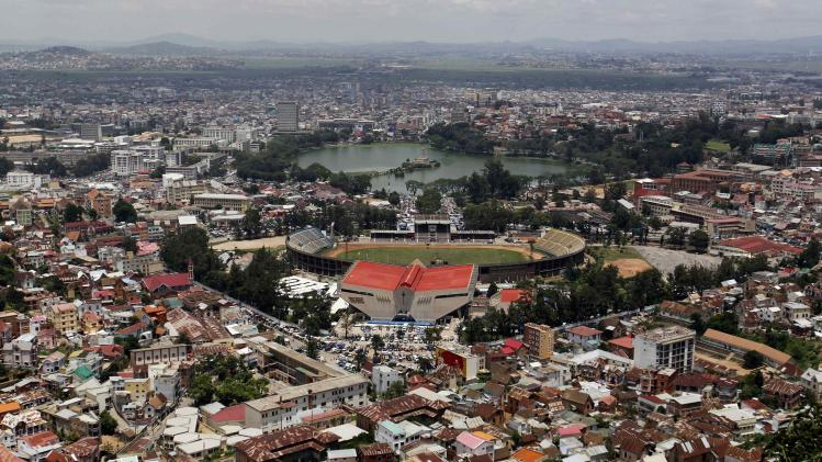 A general view shows the cityscape in Madagascar's capital Antananarivo