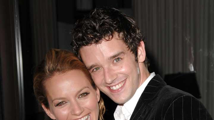 Becki Newton and Michael Urie inside the Hollywood Life Style Awards at the Pacific Design Center.