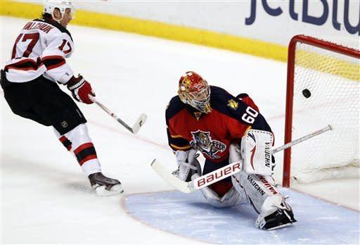 Brodeur leads Devils past Panthers 3-2 in SO