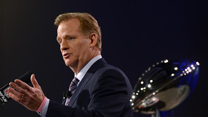 """Domestic violence and cheating allegations have made for a """"tough"""" National Football League season, Commissioner Roger Goodell admits"""