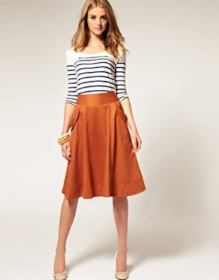 Button Pocket Midi Skirt, $43.87