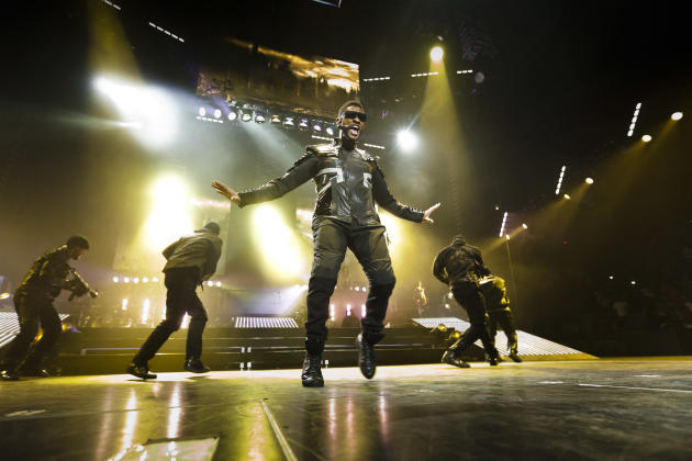 Usher performs in Madison Square Garden in New York.