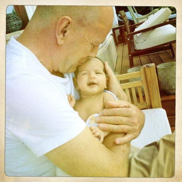 "Celebrity photos: Bruce Willis' wife Emma Heming-Willis tweeted this gorgeous photo of Bruce with their baby, Mabel Ray. Emma captioned the photo: ""A beautiful day in Budapest with the loves of my lif"