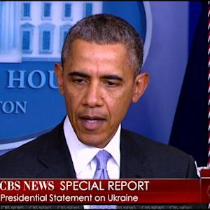 President Obama Makes Statement On Situation In Ukraine