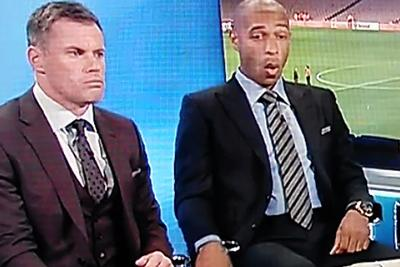Watch Thierry Henry and Jamie Carragher find out Liverpool fired Brendan Rodgers on live TV