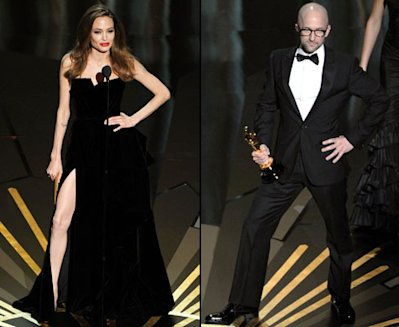 Angelina Jolie and Jim Rash