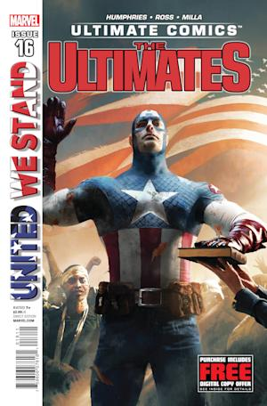 "This comic book cover released by Marvel Comics shows super hero Captain America being sworn in as president of the United States in Issue 16 of ""The Ultimates.""  The sentinel of liberty will move into the White House in the pages of ""The Ultimates,"" a series set in the Ultimate Comics universe where America is riven by factionalism, out-of-control anti-mutant hysteria and outright secession. Rogers will take the oath of office in issue No. 16, due out in October. (AP Photo/Marvel Comics)"