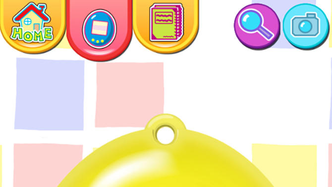 "This publicity photo released by Sync Beatz Entertainment shows the toy mode of the mobile app ""Tamagotchi L.i.f.e."" by developer/publisher Bandai Co./Sync Beatz Entertainment. The app duplicates the egg-shaped Tamagotchi toy that became a must-own sensation after it was first released in 1996 in Japan. (AP Photo/Bandai Co./Sync Beatz Entertainment)"