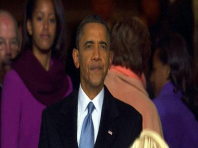 Raw: Obama's Last Look at Inauguration Crowds