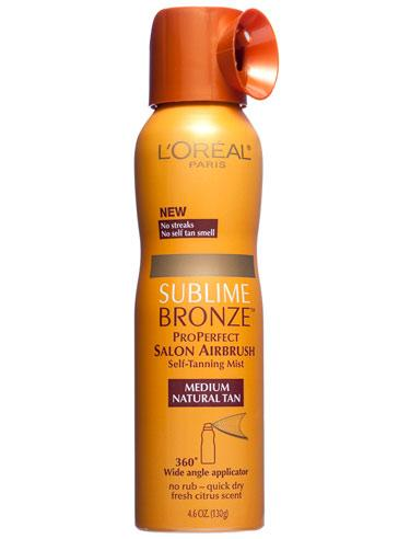 L'Oreal's Sublime Bronze ProPerfect Salon Airbrush Self-Tanning Mist