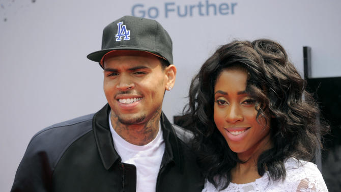 Chris Brown and Sevyn Streeter arrive at the BET Awards at the Nokia Theatre on Sunday, June 30, 2013, in Los Angeles. (Photo by Chris Pizzello/Invision/AP)