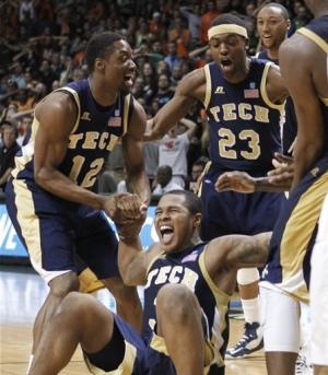 Georgia Tech rallies past No. 6 Miami 71-69