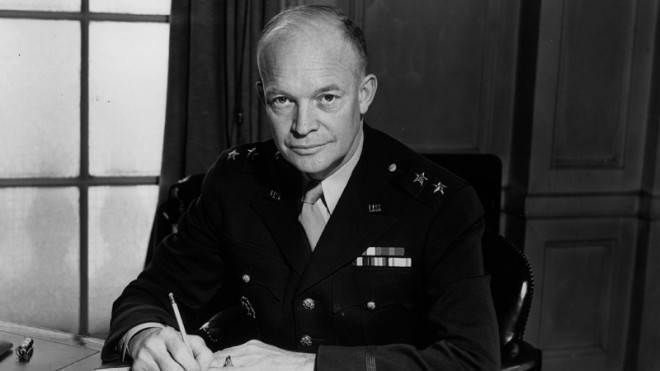 Dwight Eisenhower: A five-star general, 34th president of the U.S., and master of surprisingly accurate predictions.