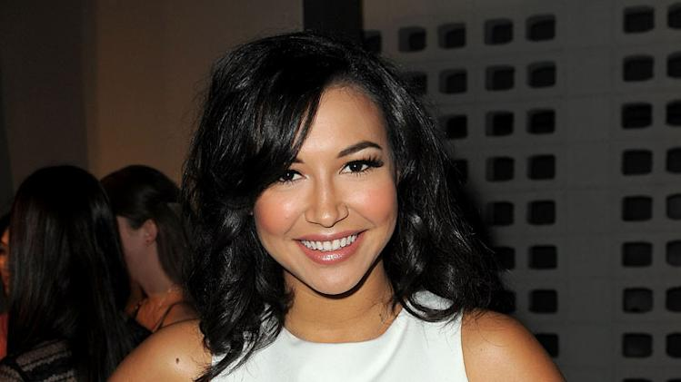 "Naya Rivera arrives at the premiere of FX's ""American Horror Story"" at the ArcLight Cinemas Cinerama Dome on October 3, 2011 in Hollywood, California."